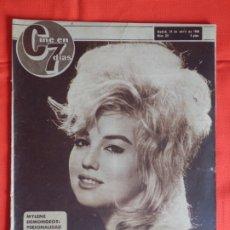 Cine: MYLENE DEMONGEOT, REVISTA CINE EN 7 DIAS, NÚM. 211, 24 DE ABRIL 1965. Lote 175919994