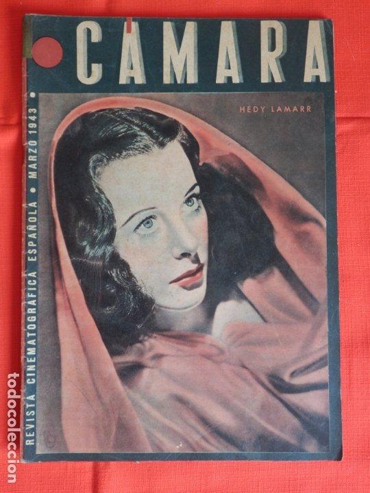 HEDY LAMARR, REVISTA CINEMATOGRAFICA CAMARA, MARZO 1943 (Cine - Revistas - Cámara)