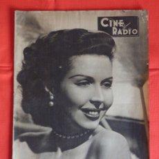 Cine: ANN MILLER, REVISTA CINE RADIO NÚM 14, 6 DE MARZO DE 1954. Lote 175923730
