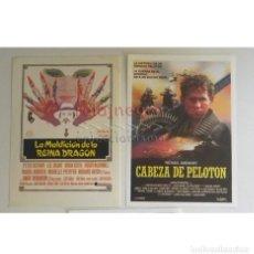Cine: 2 € X UNO- PEQUEÑO AFICHE CARTEL DE MANO D PELÍCULAS CABEZA D PELOTÓN MALDICIÓN LA REINA DRAGÓN CINE. Lote 176013694