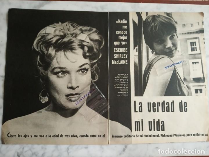 REPORTAJE 5 PAGINAS - SHIRLEY MACLAINE LA VERDAD DE MI VIDA - (Cine - Revistas - Papeles de cine)