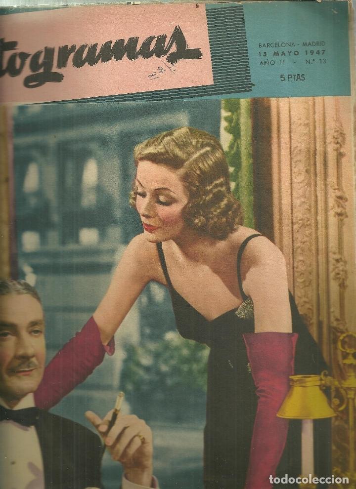 3146.- FOTOGRAMAS - AÑO II Nº 13 - 15 DE MAYO DE 1947 - CINE (Cine - Revistas - Fotogramas)