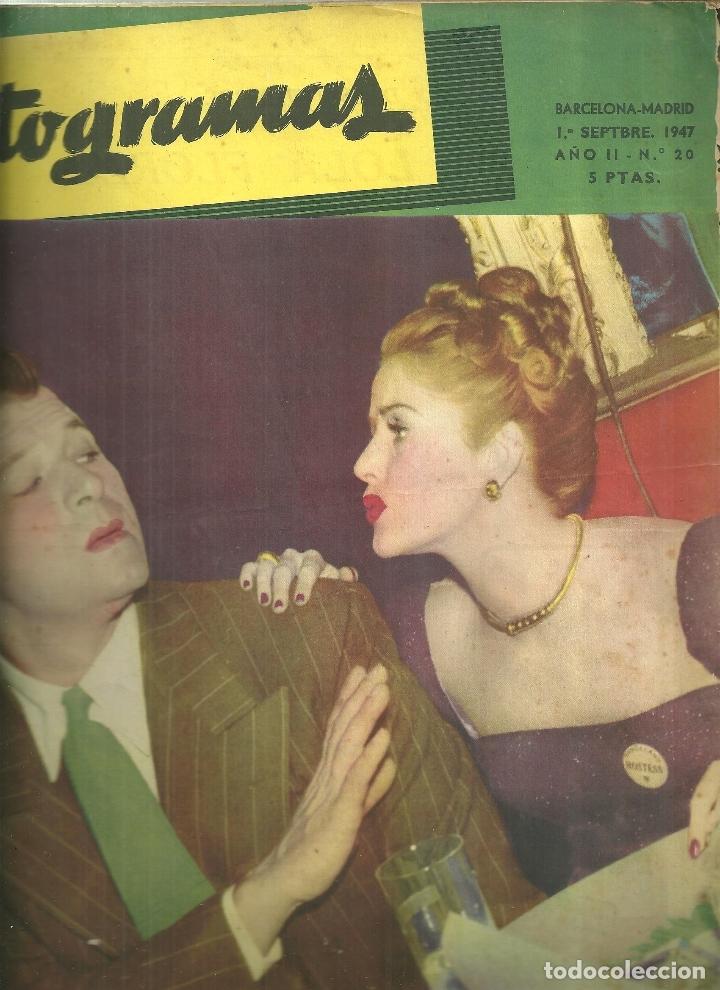 3146.- FOTOGRAMAS - AÑO II Nº 20 - 1 SEPTIEMBRE DE 1947 - CINE (Cine - Revistas - Fotogramas)