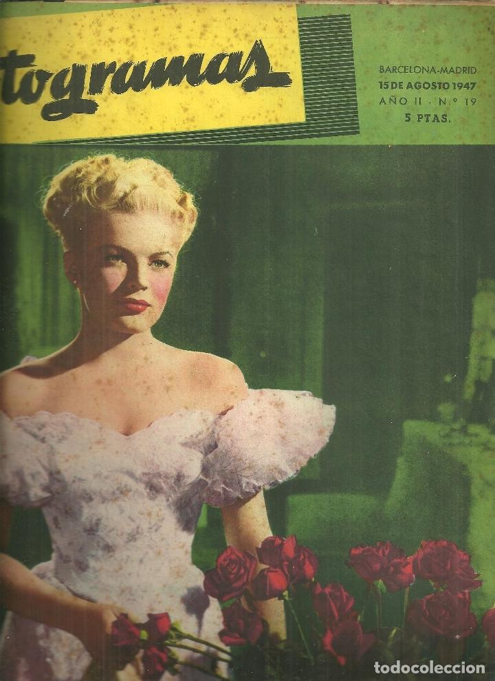 3146.- FOTOGRAMAS - AÑO II Nº 19 - 15 AGOSTO DE 1947 - CINE (Cine - Revistas - Fotogramas)