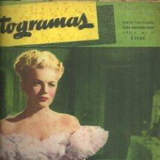 Cine: 3146.- FOTOGRAMAS - AÑO II Nº 19 - 15 AGOSTO DE 1947 - CINE . Lote 176273693