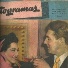 Cine: 3146.- FOTOGRAMAS - AÑO II Nº 17 - 15 JULIO DE 1947 - CINE . Lote 176273785
