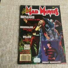 Cine: CINE FANTASTIQUE MAD MOVIES Nº 56, 1988, MOONWALKER - WILLOW - NEAR DARK - FREDDY RESSUSCITÉ. Lote 176466494