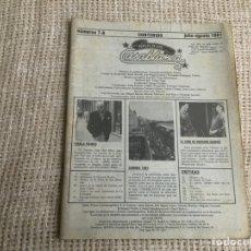 Cine: CASABLANCA - Nº 7-8 , PAPELES DE CINE 1981 - ESPECIAL CANNES, HOWARD HAWKS, JOHN BOORMAN, TIBURON. Lote 176472127