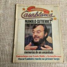 Cine: CASABLANCA Nº 10 - 1980 PAPELES DE CINE, MANOLO GUTIÉRREZ ARAGÓN, LOUIS MALLE, OSCAR LADOIRE COMPAR. Lote 176472740