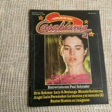 Cine: CASABLANCA Nº 19 / 20 1982 PAPELES DE CINE, PAUL SCHRADER, BERLINGA, ERIC ROHMER. Lote 176473813