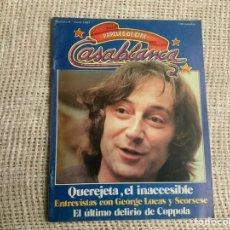 Cine: CASABLANCA Nº 6, 1981 PAPELES DE CINE, GEORGE LUCAS, ELIAS QUEREJETA, MARTIN SCORSESE. Lote 176473987