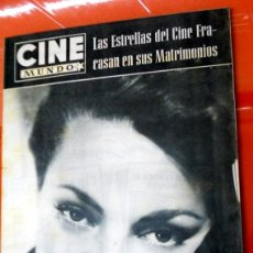 Cine: REVISTA CINE MUNDO ANTIGUA Nº263 MARZO 1957 CARMEN SEVILLA GLOBOS ORO HOLLYWOOD POSTER CONTRAPORTADA. Lote 176600688