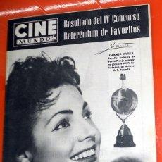 Cinema: REVISTA CINE MUNDO ANTIGUA Nº260 MARZO 1957 CARMEN SEVILLA POSTER CONTRAPORTADA JORGE MISTRAL . Lote 176600820