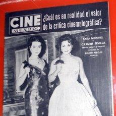 Cine: REVISTA CINE MUNDO ANTIGUA Nº275 JUNIO 1957 CARMEN SEVILLA SARA MONTIEL POSTER CONTRAPORTADA. Lote 176600972