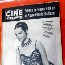 Cine: REVISTA CINE MUNDO ANTIGUA Nº274 JUNIO 1957 SARA MONTIEL VIOLETERA ELIA KAZAN POSTER CONTRAPORTADA. Lote 176601120