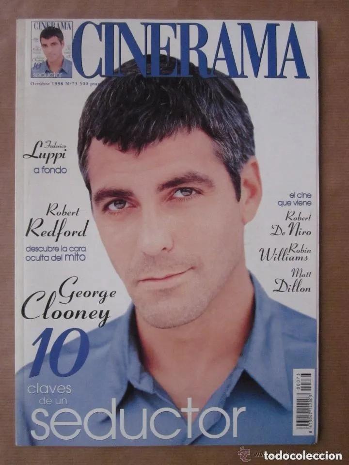 CINERAMA - NÚMERO 73 - OCTUBRE 1998. GEORGE CLOONEY-FEDERICO LUPPI-ROBERT DE NIRO (Cine - Revistas - Cinerama)