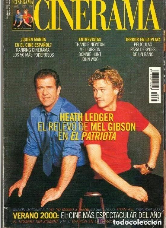 CINERAMA Nº 93 JULIO/AGOSTO DEL 2.000.HEATH LEDGER-MEL GIBSON-JOHN WOO-BONNIE HUNT (Cine - Revistas - Cinerama)
