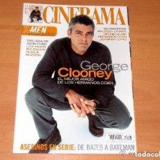 Cine: CINERAMA, NÚMERO 95. OCTUBRE 2000. GEORGE CLOONEY-DENNIS QUAID-JENNIFER LOPEZ. Lote 176629999