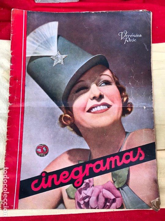 REVISTA CINEGRAMAS. PORTADA VERONICA ROSE. MAYO 1935. Nº 36. (Cine - Revistas - Cinegramas)