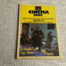 Cine: CINEMA 2002 Nº 19 SEPTIEMBRE 1976 CINE Y PSCIONALISIS, PASCUAL DUARTE, BERLIN 76. Lote 176776440