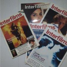 Cine: INTERFIMS - LOTE 5 REVISTAS AÑOS 1991 Y 1992. Lote 176968942