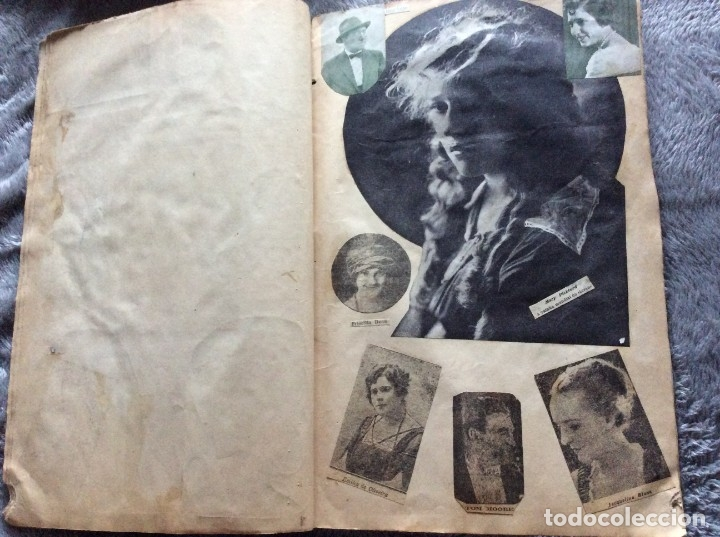 Cine: Ejemplar con recortes de revistas de las décadas de 1920 a 1930, con imágenes de artistas de cine - Foto 4 - 177174752