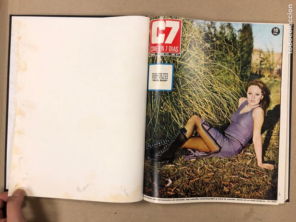 Cine: CINE EN 7 DÍAS. AÑO 1971 COMPLETO (menos 4 revistas) EN 4 TOMOS. DE N° 511 al N° 559. 49 NÚMEROS. - Foto 3 - 178139549