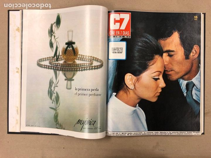 Cine: CINE EN 7 DÍAS. AÑO 1971 COMPLETO (menos 4 revistas) EN 4 TOMOS. DE N° 511 al N° 559. 49 NÚMEROS. - Foto 4 - 178139549