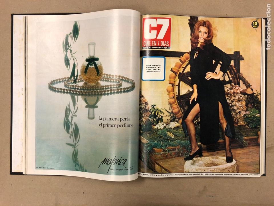 Cine: CINE EN 7 DÍAS. AÑO 1971 COMPLETO (menos 4 revistas) EN 4 TOMOS. DE N° 511 al N° 559. 49 NÚMEROS. - Foto 5 - 178139549