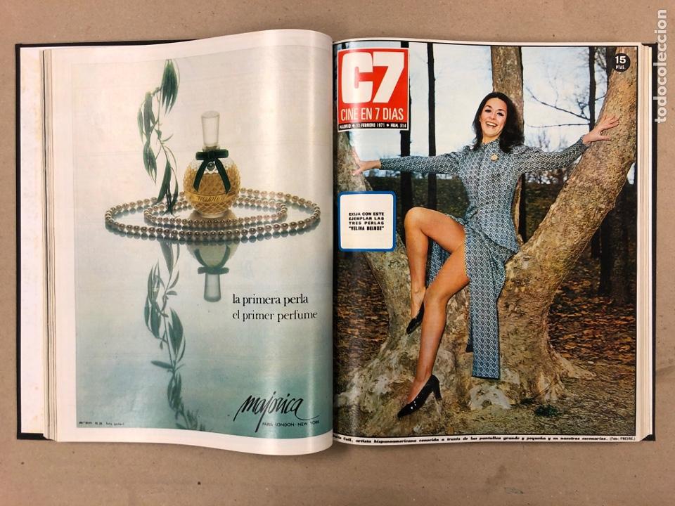 Cine: CINE EN 7 DÍAS. AÑO 1971 COMPLETO (menos 4 revistas) EN 4 TOMOS. DE N° 511 al N° 559. 49 NÚMEROS. - Foto 6 - 178139549