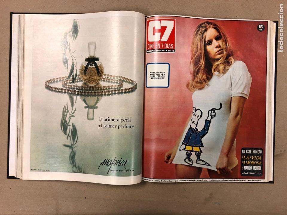 Cine: CINE EN 7 DÍAS. AÑO 1971 COMPLETO (menos 4 revistas) EN 4 TOMOS. DE N° 511 al N° 559. 49 NÚMEROS. - Foto 8 - 178139549