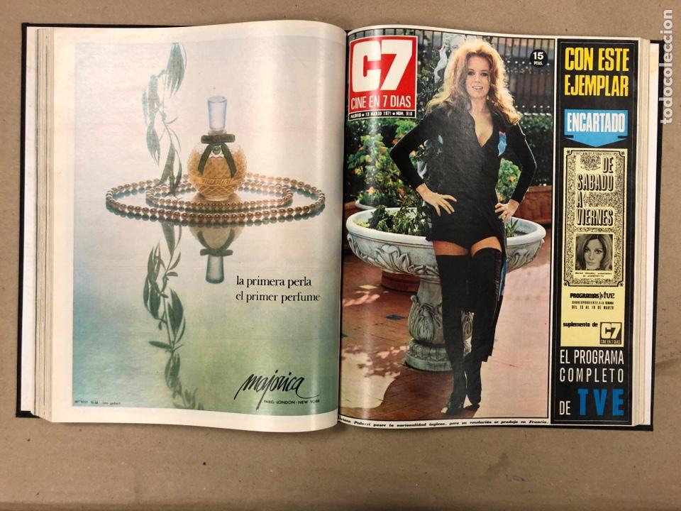 Cine: CINE EN 7 DÍAS. AÑO 1971 COMPLETO (menos 4 revistas) EN 4 TOMOS. DE N° 511 al N° 559. 49 NÚMEROS. - Foto 10 - 178139549
