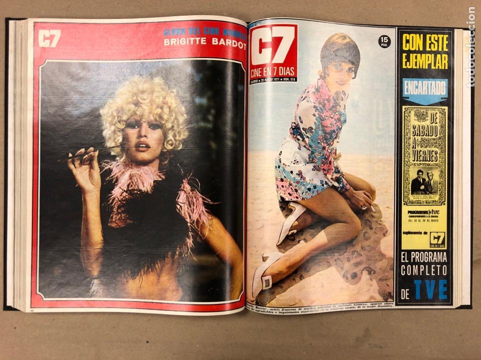 Cine: CINE EN 7 DÍAS. AÑO 1971 COMPLETO (menos 4 revistas) EN 4 TOMOS. DE N° 511 al N° 559. 49 NÚMEROS. - Foto 11 - 178139549