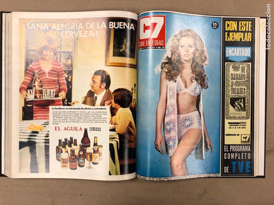 Cine: CINE EN 7 DÍAS. AÑO 1971 COMPLETO (menos 4 revistas) EN 4 TOMOS. DE N° 511 al N° 559. 49 NÚMEROS. - Foto 12 - 178139549