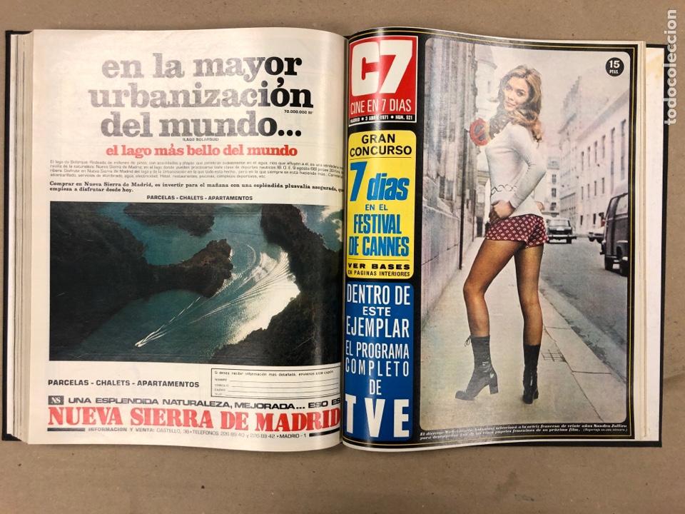 Cine: CINE EN 7 DÍAS. AÑO 1971 COMPLETO (menos 4 revistas) EN 4 TOMOS. DE N° 511 al N° 559. 49 NÚMEROS. - Foto 13 - 178139549