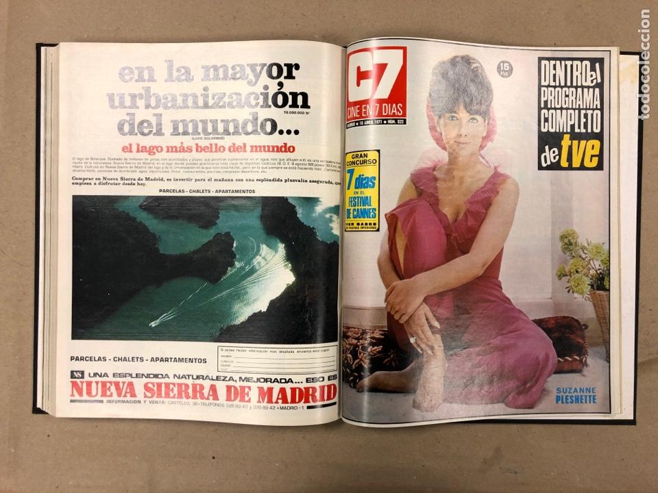 Cine: CINE EN 7 DÍAS. AÑO 1971 COMPLETO (menos 4 revistas) EN 4 TOMOS. DE N° 511 al N° 559. 49 NÚMEROS. - Foto 14 - 178139549