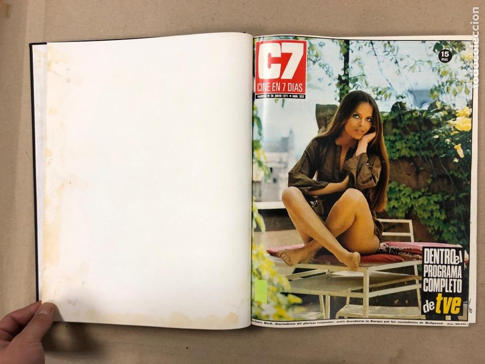 Cine: CINE EN 7 DÍAS. AÑO 1971 COMPLETO (menos 4 revistas) EN 4 TOMOS. DE N° 511 al N° 559. 49 NÚMEROS. - Foto 15 - 178139549