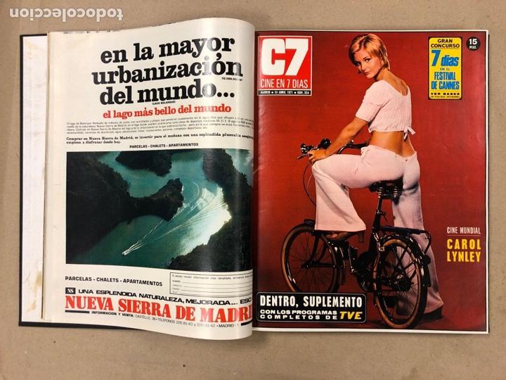 Cine: CINE EN 7 DÍAS. AÑO 1971 COMPLETO (menos 4 revistas) EN 4 TOMOS. DE N° 511 al N° 559. 49 NÚMEROS. - Foto 16 - 178139549
