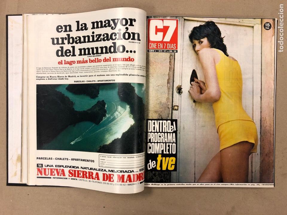 Cine: CINE EN 7 DÍAS. AÑO 1971 COMPLETO (menos 4 revistas) EN 4 TOMOS. DE N° 511 al N° 559. 49 NÚMEROS. - Foto 17 - 178139549