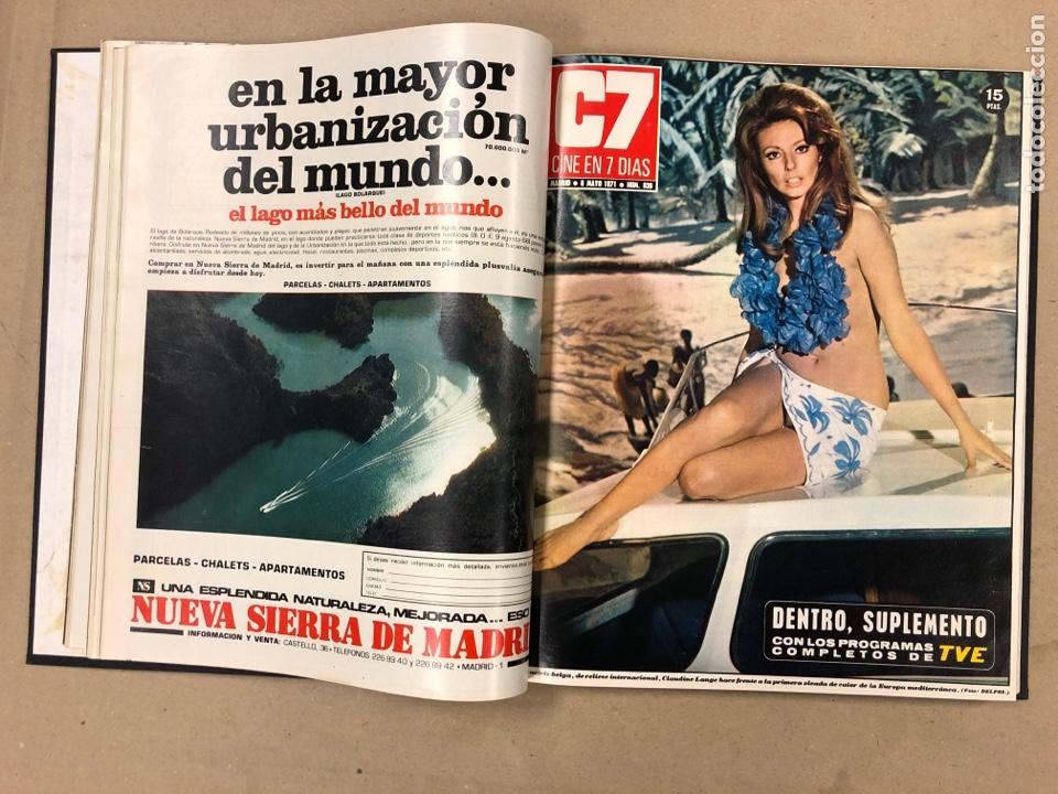 Cine: CINE EN 7 DÍAS. AÑO 1971 COMPLETO (menos 4 revistas) EN 4 TOMOS. DE N° 511 al N° 559. 49 NÚMEROS. - Foto 18 - 178139549