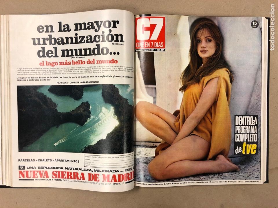 Cine: CINE EN 7 DÍAS. AÑO 1971 COMPLETO (menos 4 revistas) EN 4 TOMOS. DE N° 511 al N° 559. 49 NÚMEROS. - Foto 19 - 178139549