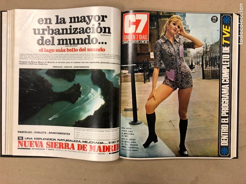 Cine: CINE EN 7 DÍAS. AÑO 1971 COMPLETO (menos 4 revistas) EN 4 TOMOS. DE N° 511 al N° 559. 49 NÚMEROS. - Foto 20 - 178139549