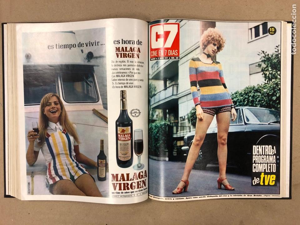 Cine: CINE EN 7 DÍAS. AÑO 1971 COMPLETO (menos 4 revistas) EN 4 TOMOS. DE N° 511 al N° 559. 49 NÚMEROS. - Foto 22 - 178139549