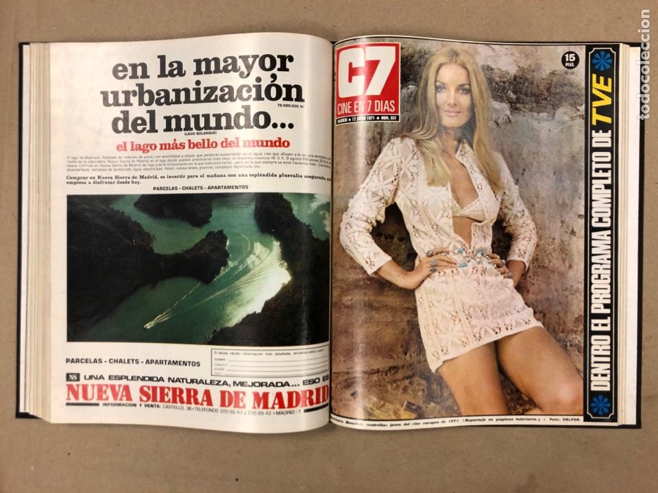 Cine: CINE EN 7 DÍAS. AÑO 1971 COMPLETO (menos 4 revistas) EN 4 TOMOS. DE N° 511 al N° 559. 49 NÚMEROS. - Foto 23 - 178139549