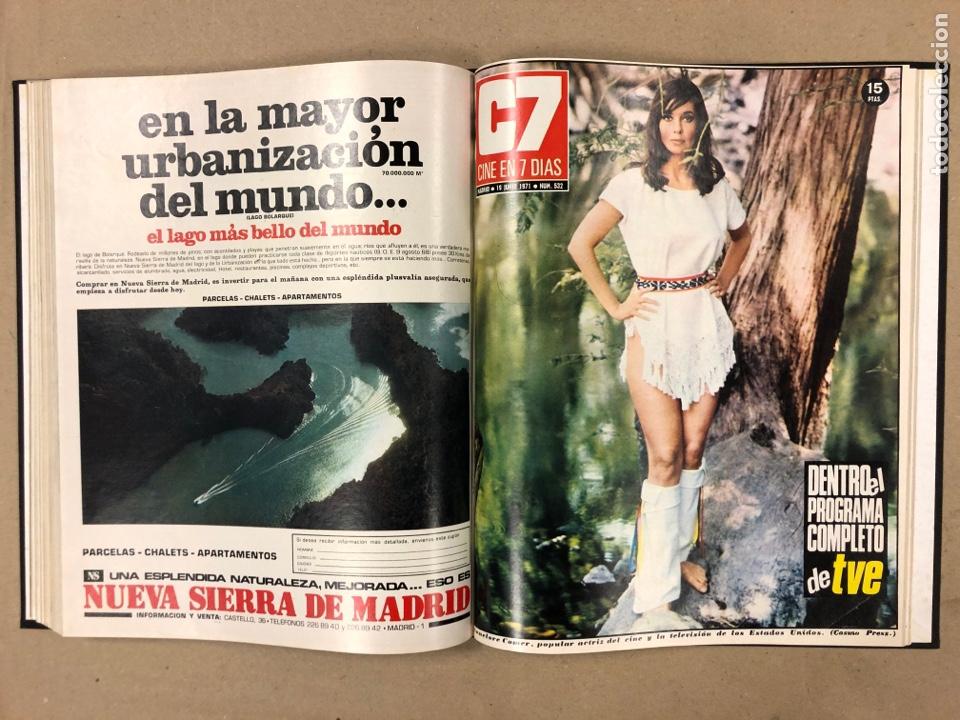 Cine: CINE EN 7 DÍAS. AÑO 1971 COMPLETO (menos 4 revistas) EN 4 TOMOS. DE N° 511 al N° 559. 49 NÚMEROS. - Foto 24 - 178139549