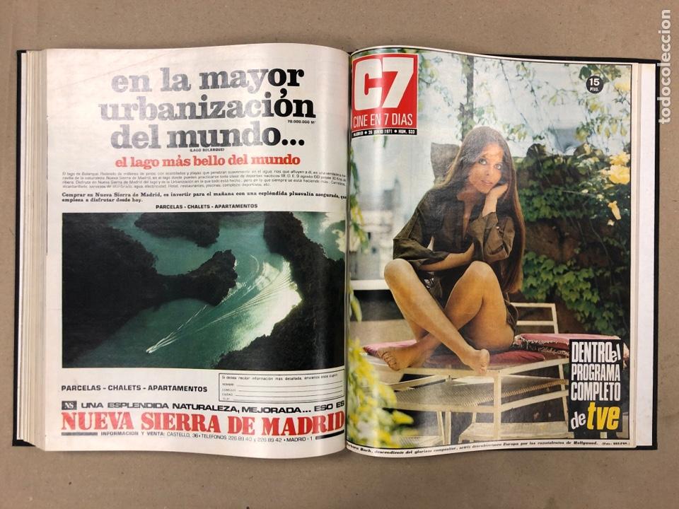 Cine: CINE EN 7 DÍAS. AÑO 1971 COMPLETO (menos 4 revistas) EN 4 TOMOS. DE N° 511 al N° 559. 49 NÚMEROS. - Foto 25 - 178139549