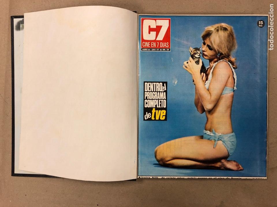 Cine: CINE EN 7 DÍAS. AÑO 1971 COMPLETO (menos 4 revistas) EN 4 TOMOS. DE N° 511 al N° 559. 49 NÚMEROS. - Foto 26 - 178139549