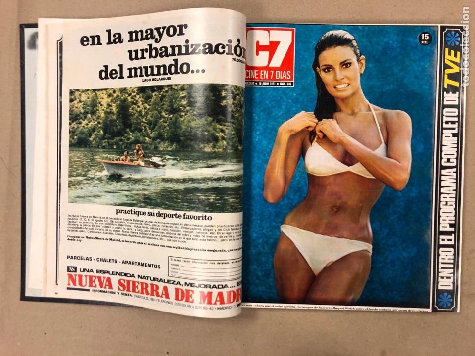 Cine: CINE EN 7 DÍAS. AÑO 1971 COMPLETO (menos 4 revistas) EN 4 TOMOS. DE N° 511 al N° 559. 49 NÚMEROS. - Foto 27 - 178139549