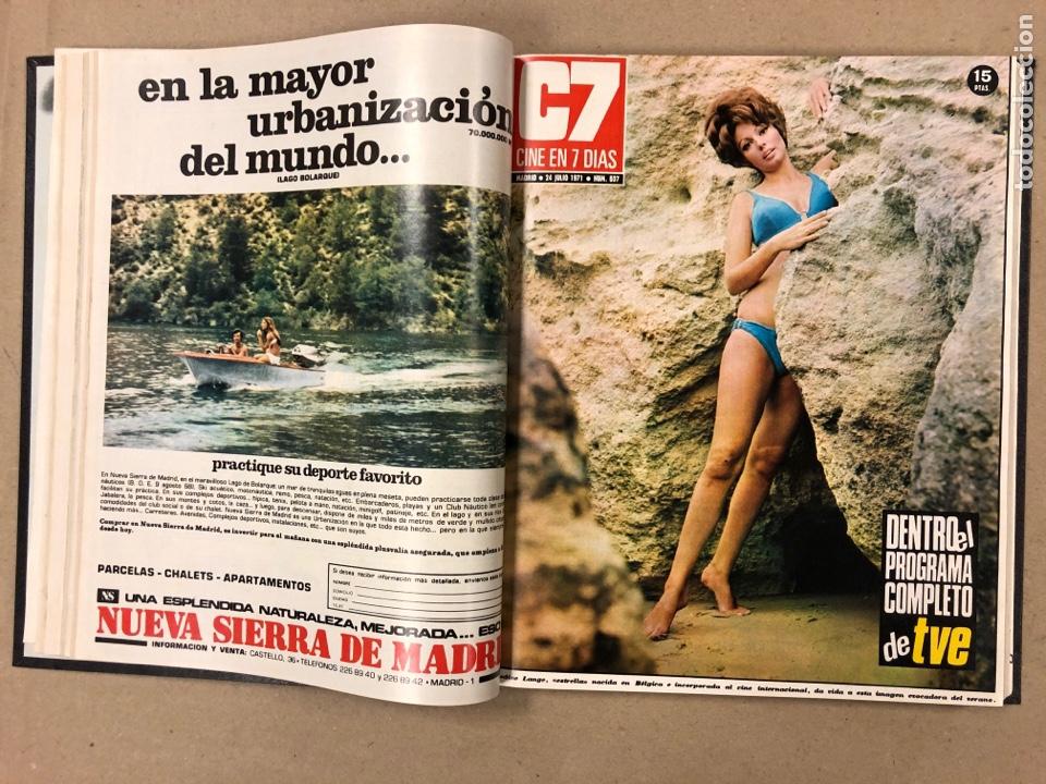 Cine: CINE EN 7 DÍAS. AÑO 1971 COMPLETO (menos 4 revistas) EN 4 TOMOS. DE N° 511 al N° 559. 49 NÚMEROS. - Foto 29 - 178139549