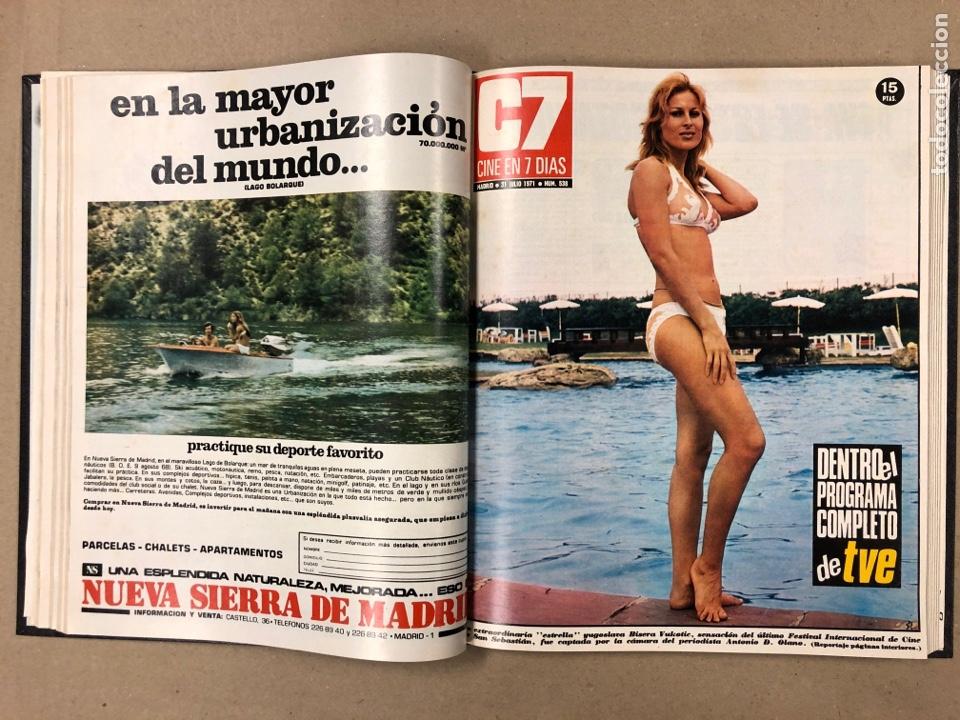 Cine: CINE EN 7 DÍAS. AÑO 1971 COMPLETO (menos 4 revistas) EN 4 TOMOS. DE N° 511 al N° 559. 49 NÚMEROS. - Foto 30 - 178139549